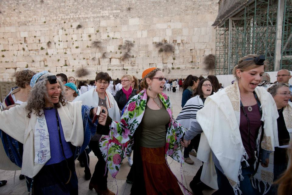 Singing and dancing at the Kotel