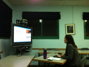 PCJCR Campus Fellow and PCJE student in Experiential Education, Lea Kahn, facilitates an online training workshop for Hillel professionals.