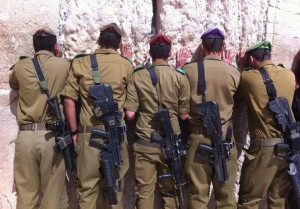 IDF Soldiers at the Western Wall (Photo credit: Israel Defense Forces)