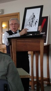 Mr. Morris Wyszogrod, a Holocaust Survivor speaking at Pardes on Yom HaShoah. Photo by Rachel Rosenbluth (Spring '13)