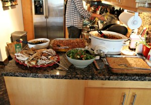 Six adults and one child ate all that delicious, homemade grub.