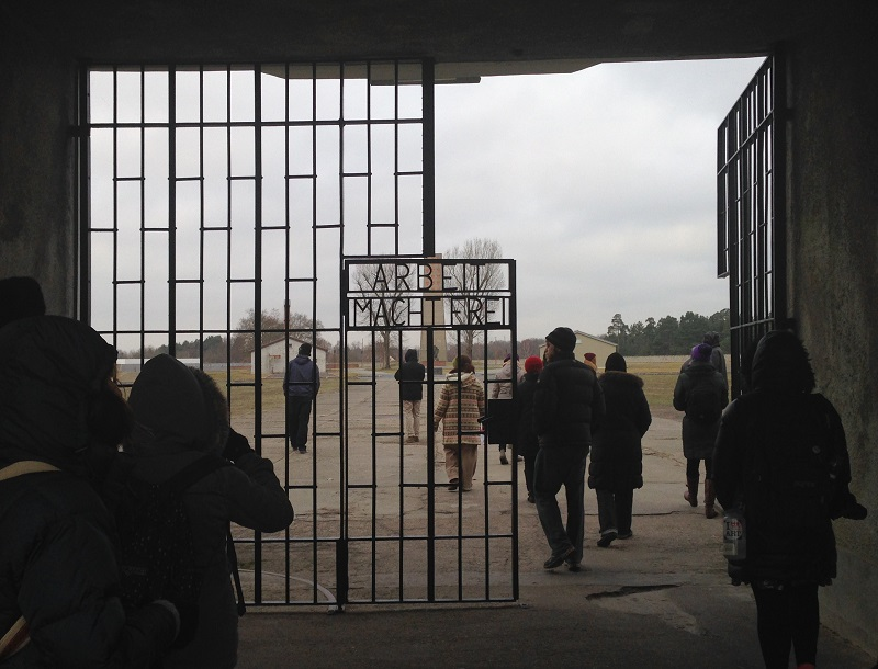 Gate to Sachsenhausen Concentration Camp Photo credit: Biana Gorelik