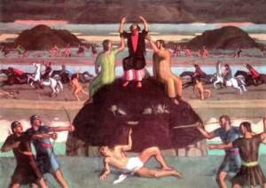 Amalekites attacking the Israelites