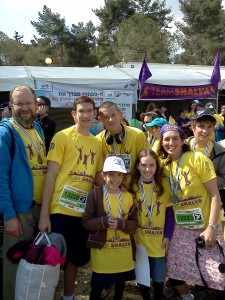 Michael Hattin and his family also ran for Team Shalva!