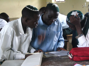 Unknown student, Allan and Shadrach