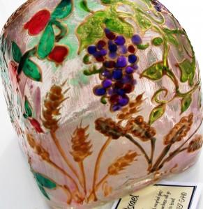 Seven Species of Israel - glass bottle by Avigayle Adler (PEP 2003-05)