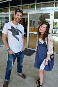 Adam and Mary Brett at the first Pardes Shabbaton of 2012-'13