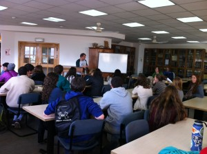 Avi teaching Weber School students