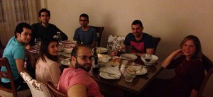 Shabbat dinner at Sinan's in Istanbul, Turkey.