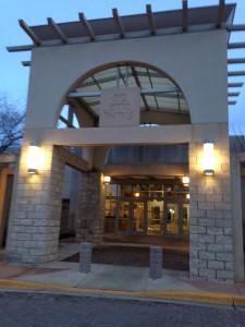 Entrance of JDS (still dark outside when I arrived)