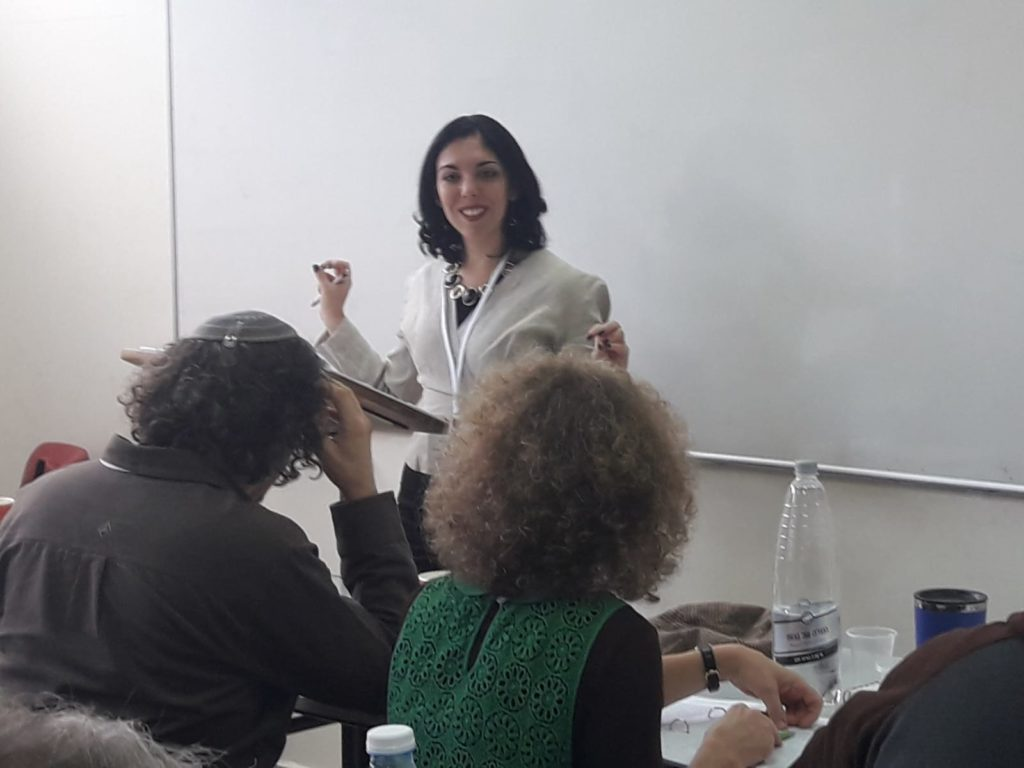 Gila Fine teaching at Pardes Learning Seminar